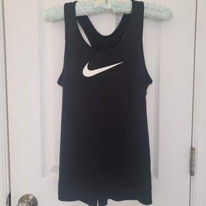 Nike Racerback Tank Top Mesh Swoosh Black Shirt